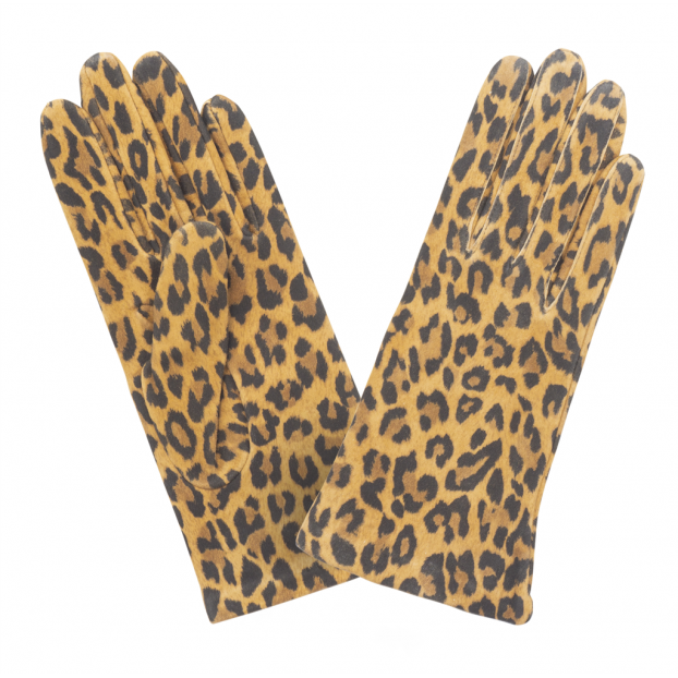 Gant Classique Cuir Agneau Doublé 100% Soie Animal