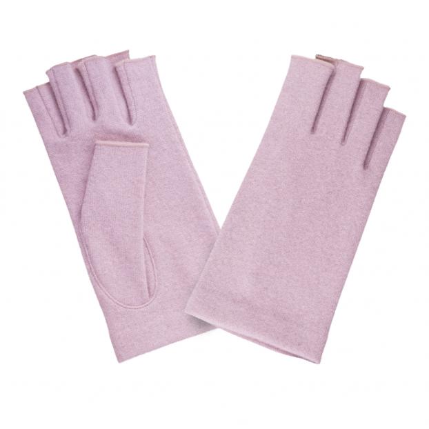 gant mitaine laine 601 pink